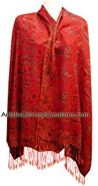 Chinese Apparel / Chinese Clothing – Chinese Pashmina Shawl – Flowers Review