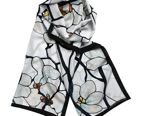 100% Silk Shawl Scarf for Womens Scarves Magnolia Louis Comfort Tiffany Inspired Review