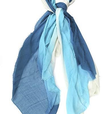Blue Pacific Dream Scarf Cashmere and Silk, Teal Review