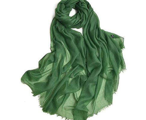 100% Cashmere Scarf Warm Pashmina Thin Multi Colors Women Shawl Soft Scarves (Emerald Green) Review