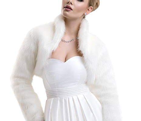 Ladies Fox Faux Fur Bridal Wedding Jacket Bolero FFJ-61 Review