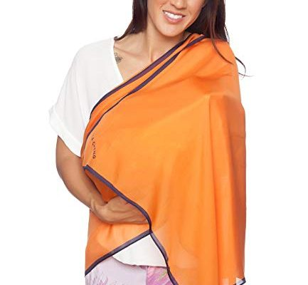 5-IN-1 100% Mulberry Silk Nursing Cover, Scarf, Shawl, Beach Cover Up, Lingerie Accessory ORANGE by Lola Cheng Review