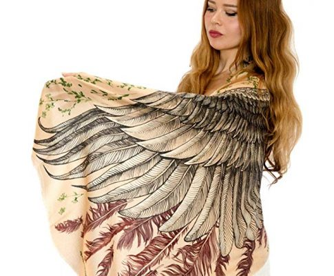 Pure Cotton Hand Painted Feather Wings Bohemian Scarf Summer Shawl Review
