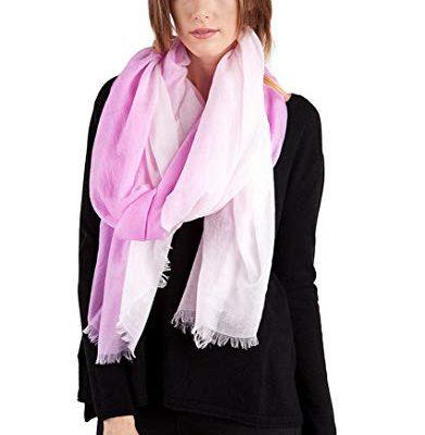 JENNIE LIU Women's 90″ X 40″ Ultra Thin Tissue Weight Air Cashmere Shawl Wrap Review