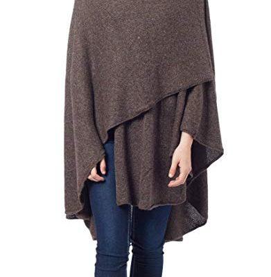 NOVICA Handmade Dark Brown Alpaca Wool Blend Wrap 'Brown Tweed' Review