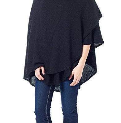 NOVICA Black Peruvian Alpaca Wool Blend Wrap, 'Bold Black' Review
