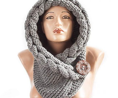 Handmade Hoded scarf Warm scarf Christmas Gift Hood Chunky scarf Acrylic cowl Review