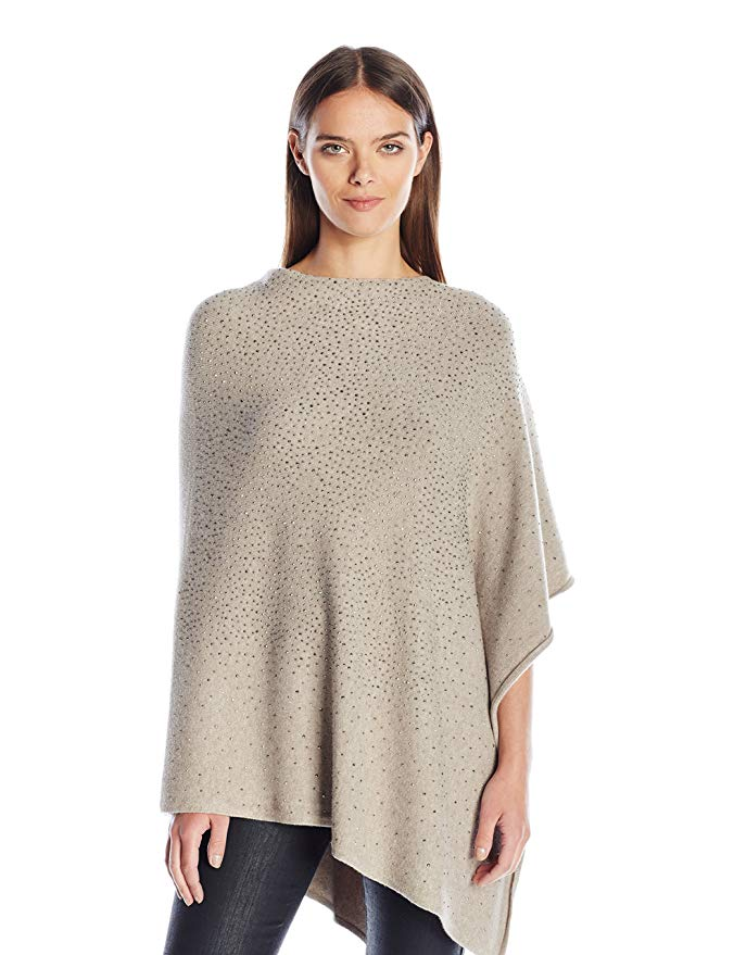 La Fiorentina Women's Poncho with Jewel Embellishments