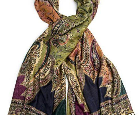 Bohomonde, Hana Reversible Cashmere Silk Pashmina Scarf, hand made in India Review
